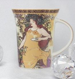 CARMANI - 1990 Alfons Mucha -The Four Seasons Coffee Cup X - Autumn