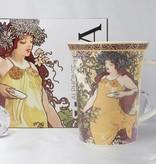 CARMANI - 1990 Alfons Mucha - The Four Seasons - Herbst-  Kaffeetasse in Geschenkbox