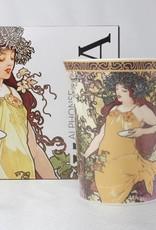 CARMANI - 1990 Alfons Mucha -The Four Seasons - Herbst-Kaffeetasse im Geschenkkarton