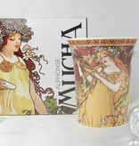 CARMANI - 1990 Alfons Mucha - The Four Seasons - Spring coffee cup in gift box