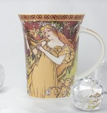 CARMANI - 1990 Alfons Mucha - The Four Seasons - Frühling -Kaffeetasse in Geschenkbox