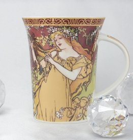 CARMANI - 1990 Alfons Mucha -The Four Seasons -Kaffeetasse X  - Frühling