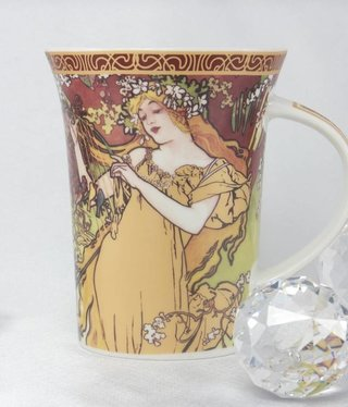 CARMANI - 1990 Alfons Mucha -The Four Seasons -Tasse X  - Frühling