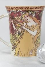 CARMANI - 1990 Alfons Mucha -The Four Seasons - Frühling -Kaffeetasse im Geschenkkarton