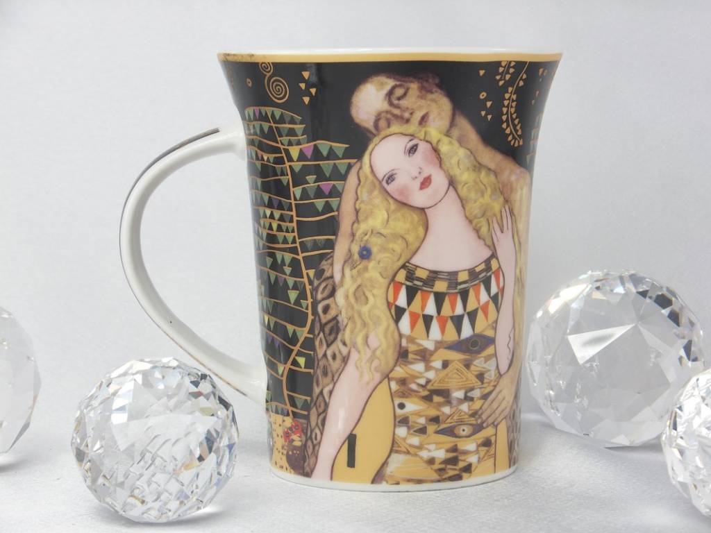 CARMANI - 1990 Gustav Klimt - Adam and Eva coffee cup in gift box