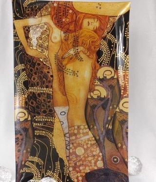 CARMANI - 1990 Gustav Klimt - glass plate water snakes