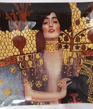 CARMANI - 1990 Gustav Klimt - glass plate - 25 x 25 cm - Judith
