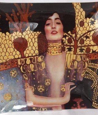 CARMANI - 1990 Gustav Klimt - Glasteller - 25 x 25 cm - Judith