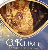 CARMANI - 1990 Gustav Klimt - The Kiss dark - Glass plate 25 x 25 cm