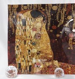 CARMANI - 1990 Gustav Klimt - Platter - The kiss 30 x 30 cm