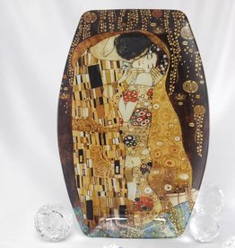 CARMANI - 1990 Gustav Klimt - The Kiss -Glas plate  29.5 x 19.5 cm