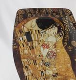 CARMANI - 1990 Gustav Klimt - glass plate - The Kiss 29.5 cm x 19.5 cm