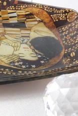 CARMANI - 1990 Gustav Klimt - Glasteller - Der Kuss 29,5 cm x 19,5 cm