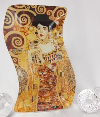 CARMANI - 1990 Gustav Klimt - Adele - glass plate S-shape