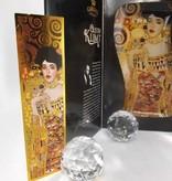 CARMANI - 1990 Gustav Klimt - glass plate -S- form -Adele Bloch Bauer