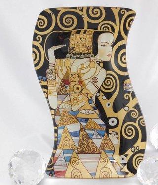 CARMANI - 1990 Gustav Klimt - Erwartung - Glasteller S- Form