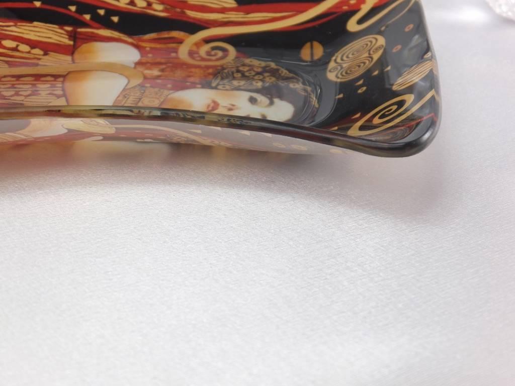 CARMANI - 1990 Gustav Klimt - glass plate -S shape - Hygieia - 23 x 15 cm