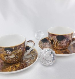 CARMANI - 1990 Gustav Klimt -  Cappuccino Tassen Set