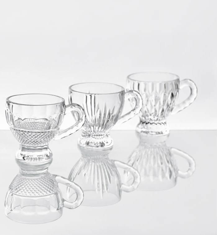 IRENA - 1924  Cappuccino cups   medium in glass in 3 versions