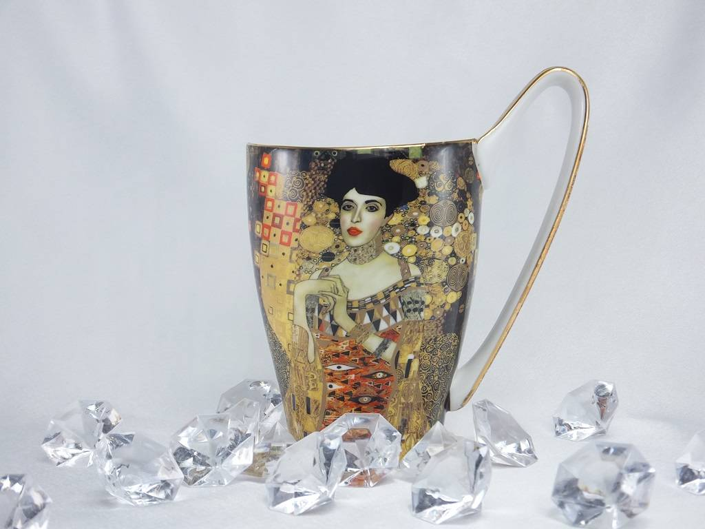 CARMANI - 1990 Gustav Klimt - Adele Bloch Bauer coffee cup - Vanessa XL in gift box