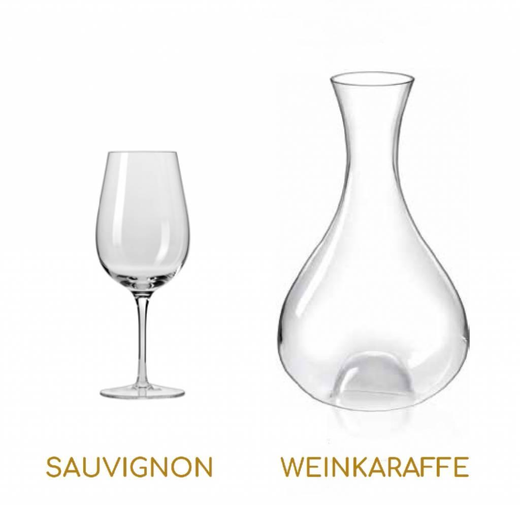 KROSNO 1923 Celebrity - 077  Trinkgläser Serie mit Weinkaraffe