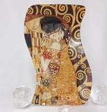 CARMANI - 1990 Gustav Klimt - Glasteller -S- Form - Der Kuss  23 x 15 cm