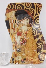 CARMANI - 1990 Gustav Klimt - Glasteller -S-Form - Der Kuss  23 x 15 cm