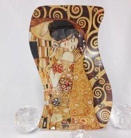 CARMANI - 1990 Gustav Klimt - Der Kuss -Glasteller S- Form