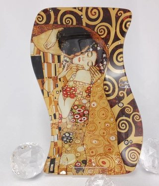 CARMANI - 1990 Gustav Klimt - The Kiss - glass plate S-shape