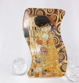 CARMANI - 1990 Gustav Klimt - Der Kuss -Glasteller S Form klein