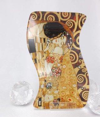 CARMANI - 1990 Gustav Klimt - Der Kuss - Glasteller S Form klein