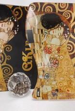 CARMANI - 1990 Gustav Klimt - Glasteller -S-Form -Klein - Der Kuss  18 x 13 cm
