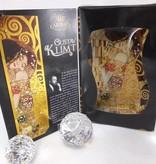 CARMANI - 1990 Gustav Klimt - glass plate -S shape -small - The Kiss 18 x 13 cm
