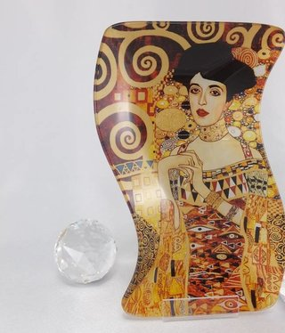 CARMANI - 1990 Gustav Klimt - Adele -Glasteller S- form small