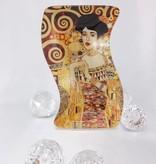 CARMANI - 1990 Gustav Klimt - glass plate -S-form small -Adele Bloch Bauer