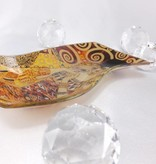 CARMANI - 1990 Gustav Klimt - Glasteller -S-Form  klein -Adele Bloch Bauer