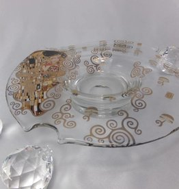 CARMANI - 1990 Gustav Klimt - The Kiss - Glass Bowl - Copy