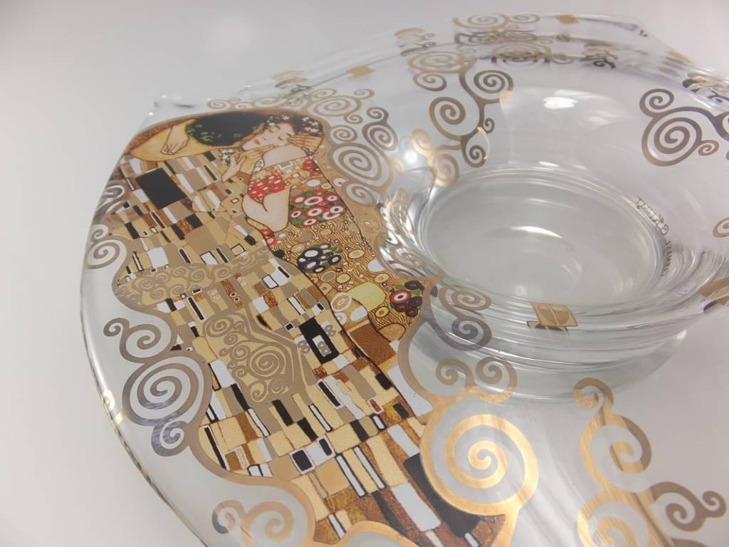 CARMANI - 1990 Gustav Klimt - Der Kuss - Dekorationsschale / Glasschale - I