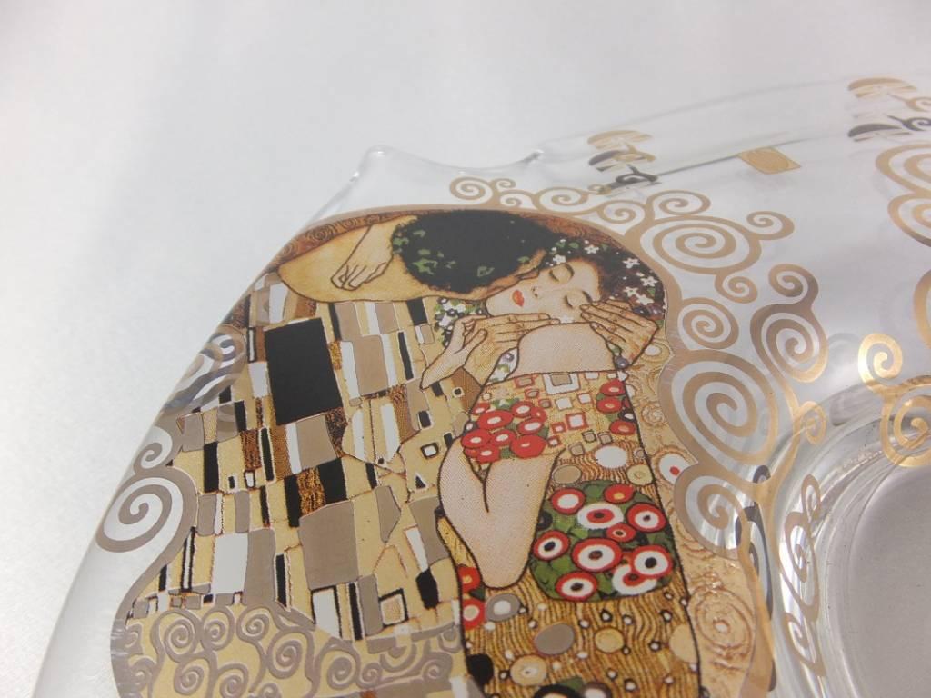 CARMANI - 1990 Gustav Klimt - Der Kuss - Schale I  / Glasschale - klein