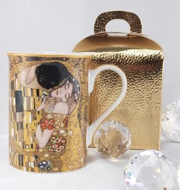 DELUXE by MJS Gustav Klimt - coffee cup -The kiss - dark