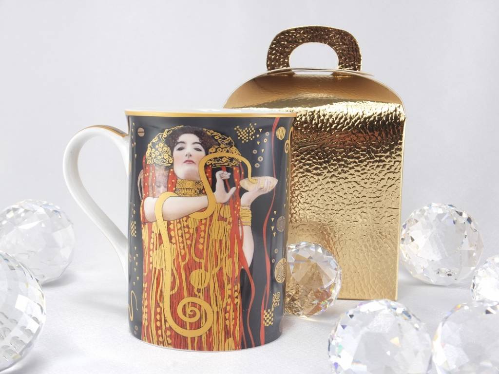 DELUXE by MJS Gustav Klimt - Hygieia - coffee cup in gift box