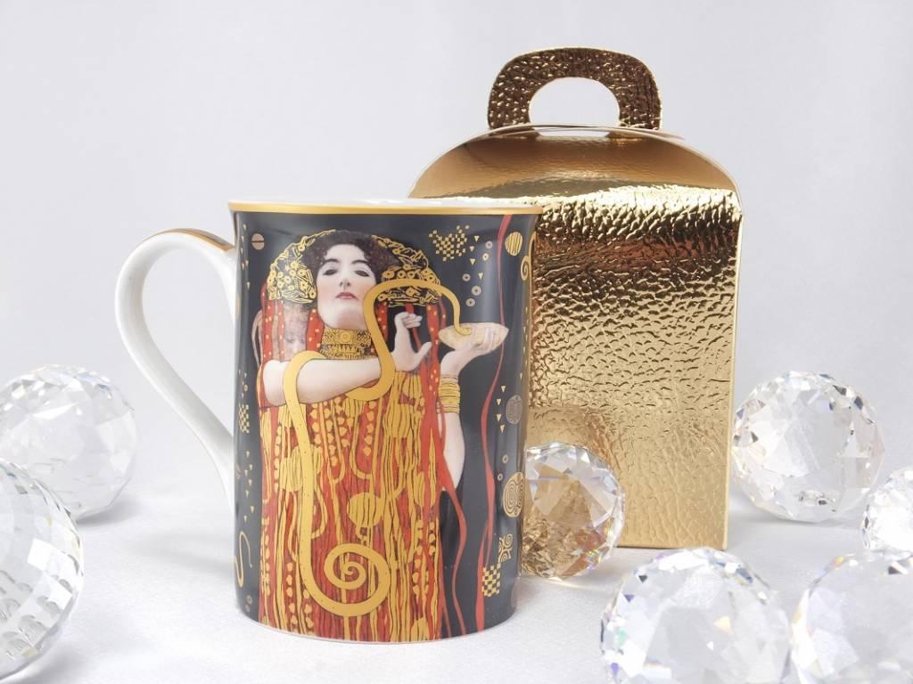 DELUXE by MJS Gustav Klimt - Hygieia - Kaffeetasse  in  Geschenkbox