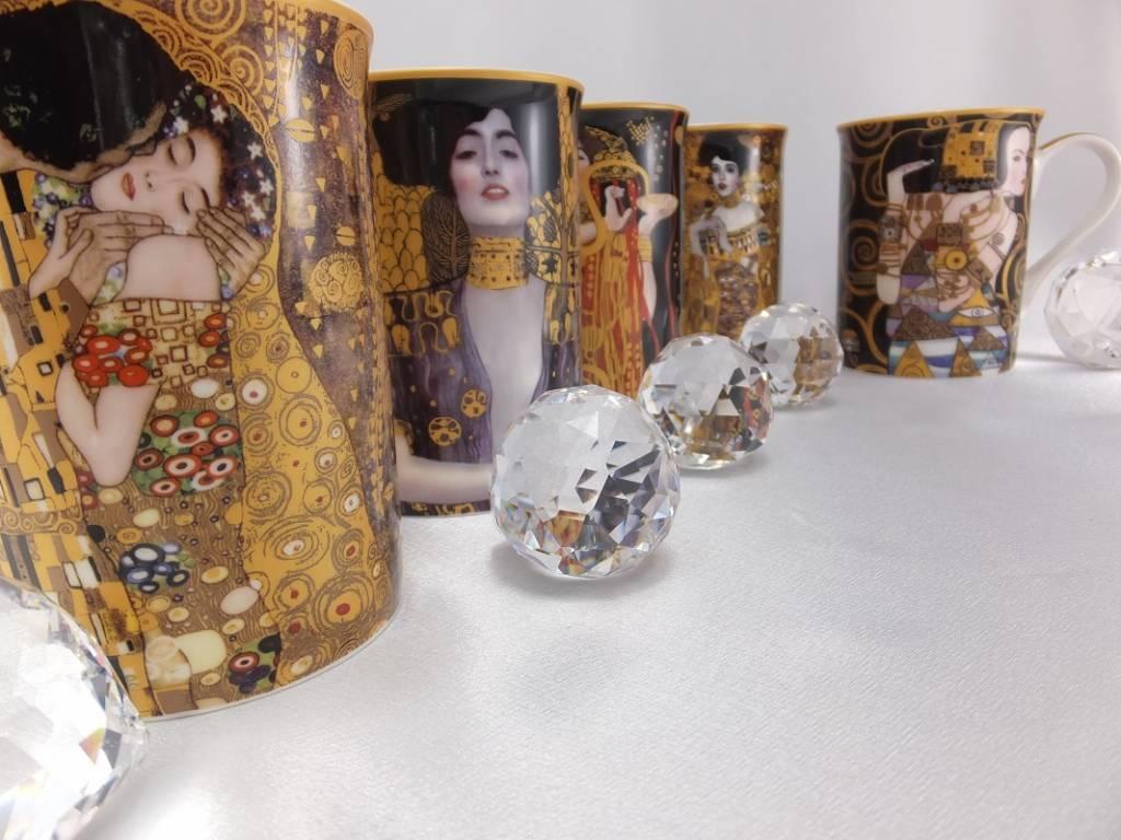 DELUXE by MJS Gustav Klimt - Der Kuss - Kaffeetasse in Geschenkbox