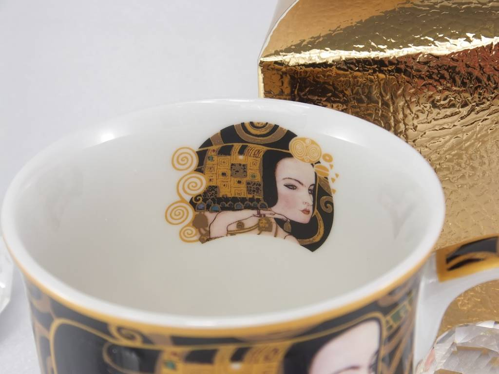 DELUXE by MJS Gustav Klimt - Erwartung - Kaffeetasse  in Geschenkbox