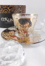 CARMANI - 1990 Gustav Klimt - Espresso cup made of glass in a gift box