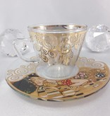 CARMANI - 1990 Gustav Klimt - Espresso cup made of glass in gift box