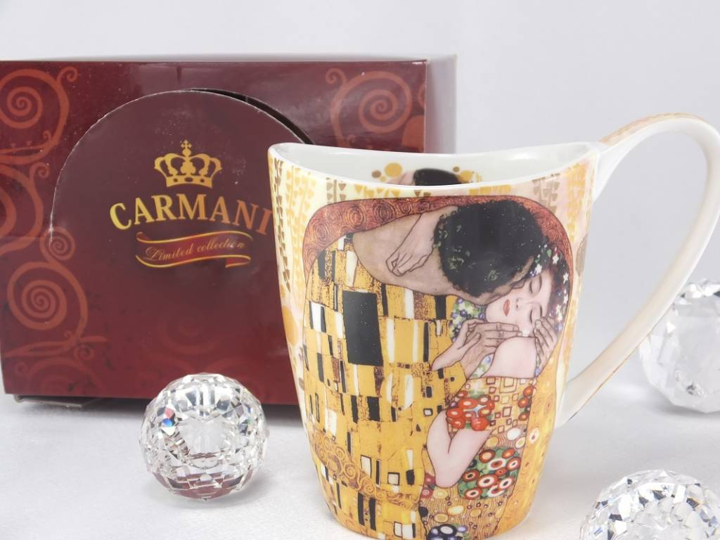 CARMANI - 1990 Gustav Klimt - The kiss coffee cup Vanessa in gift box