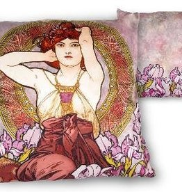 CARMANI - 1990 Alfons Mucha - Amethyst - Cushion
