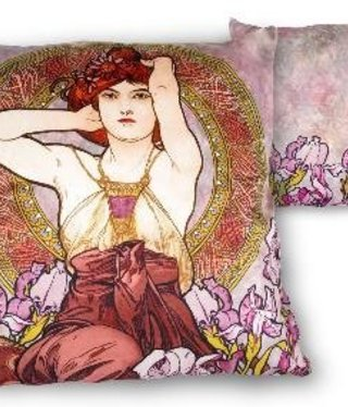 CARMANI - 1990 Alfons Mucha - Amethyst - Pillow