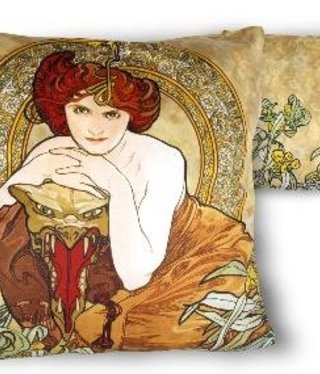 CARMANI - 1990 Alfons Mucha - Emerald Pillow